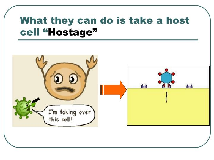 What they can do is take a host cell ""