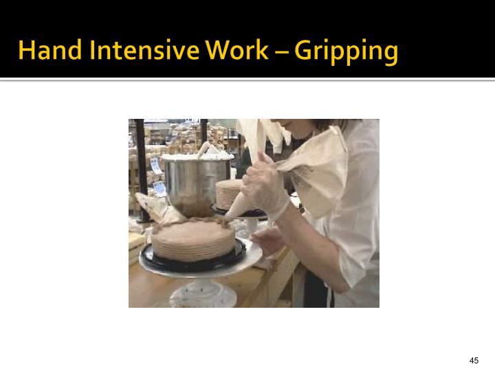 Hand Intensive Work – Gripping