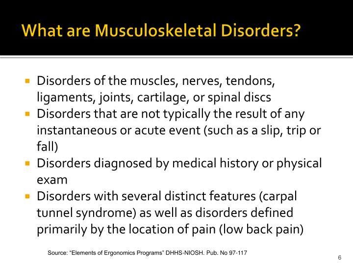 What are Musculoskeletal Disorders?