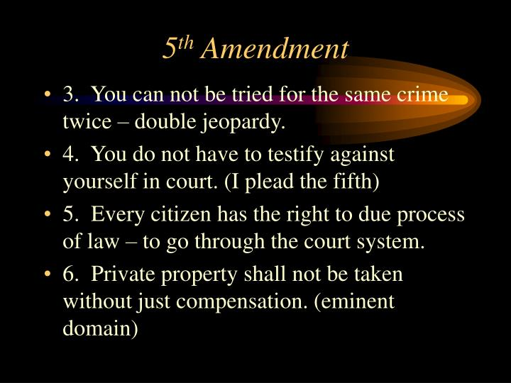 5th Amendment