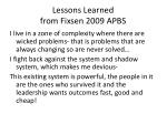 lessons learned from fixsen 2009 apbs