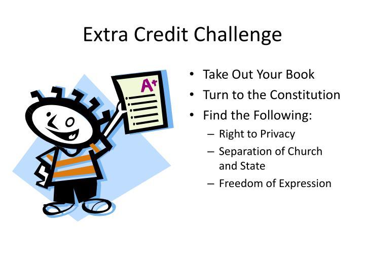 Extra Credit Challenge