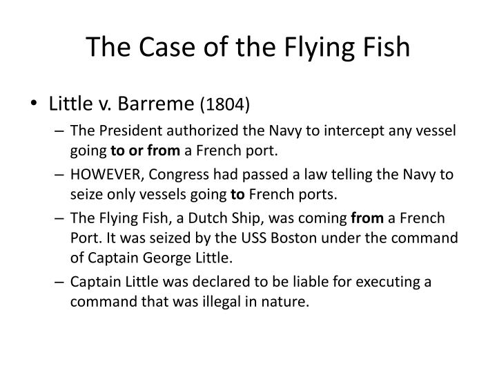 The Case of the Flying Fish