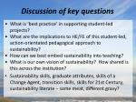 discussion of key questions