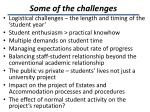 some of the challenges