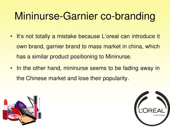 Mininurse-Garnier co-branding