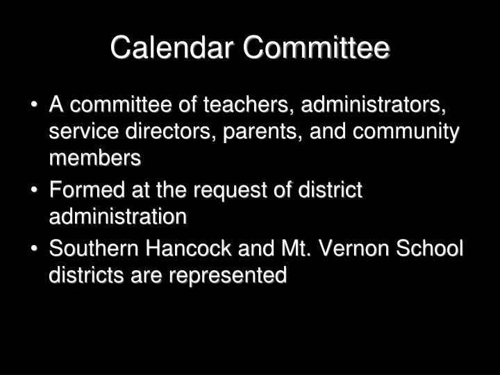 Calendar committee