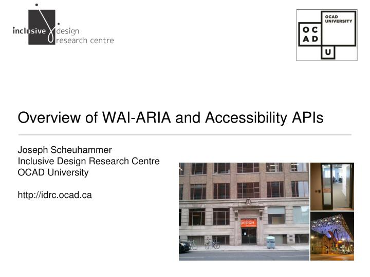 Overview of wai aria and accessibility apis