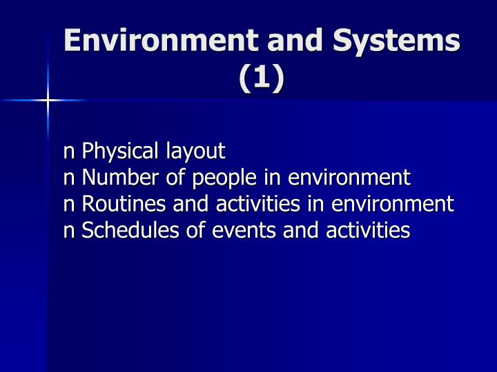 Environment and Systems (1)
