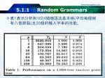 5 1 1 random grammars