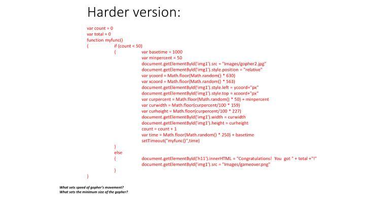 Harder version: