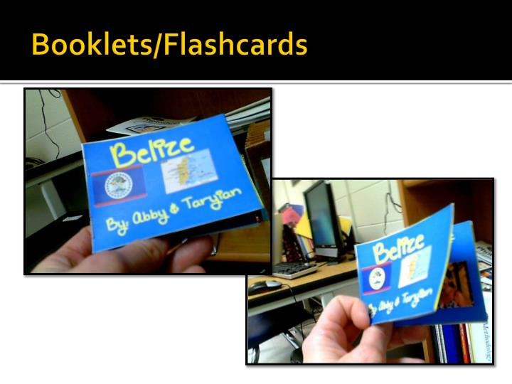 Booklets/Flashcards