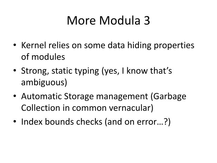 More Modula 3