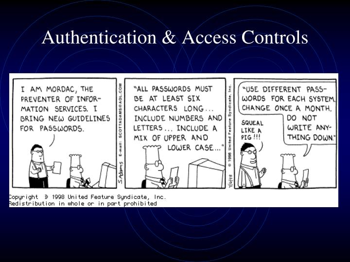 Authentication access controls