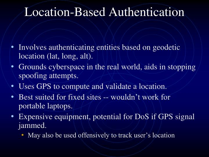 Location-Based Authentication