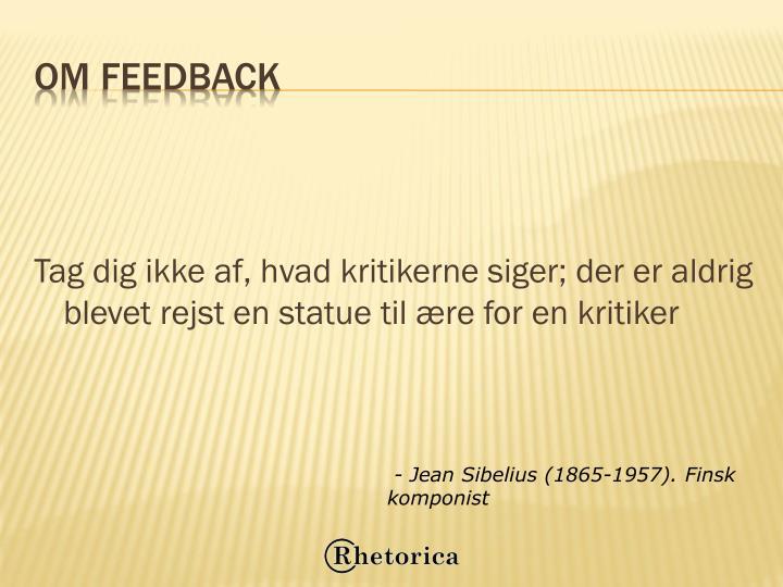 Om feedback