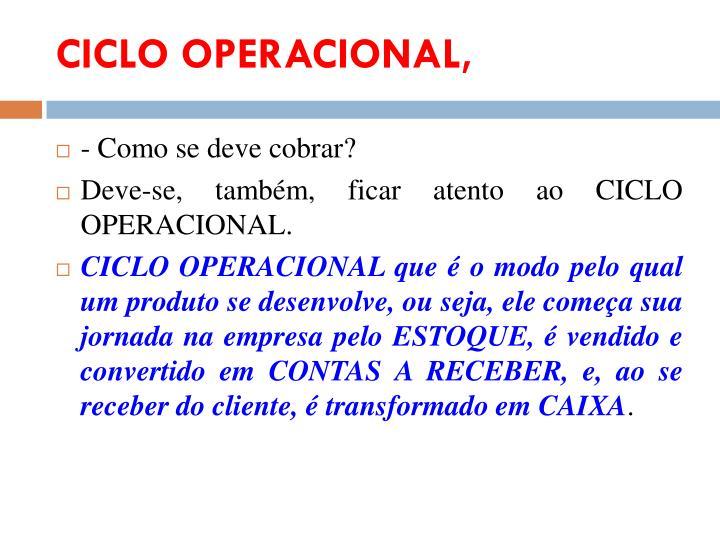 CICLO OPERACIONAL,