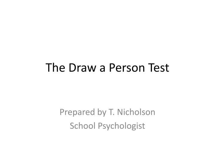 the draw a person test n.