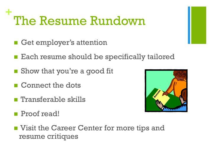 The Resume Rundown