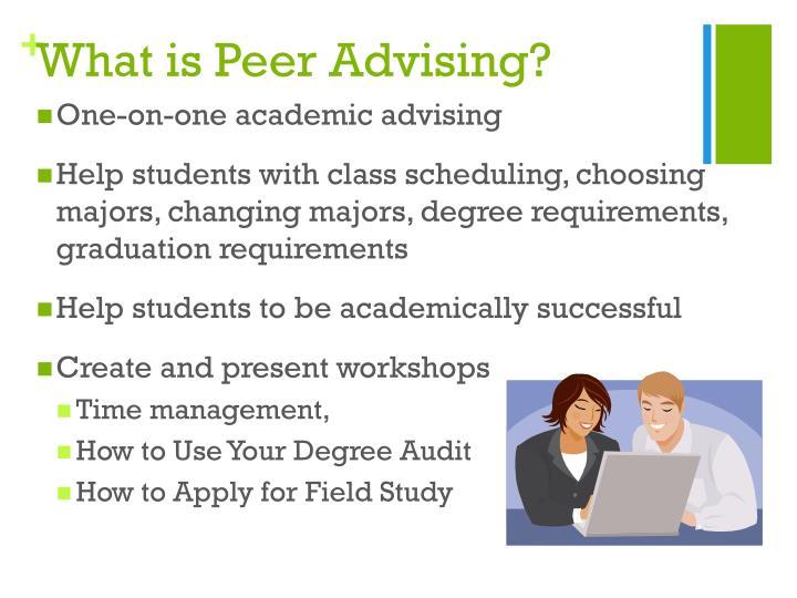 What is peer advising