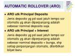 automatic rollover aro