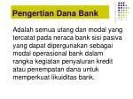 pengertian dana bank