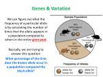 genes variation1