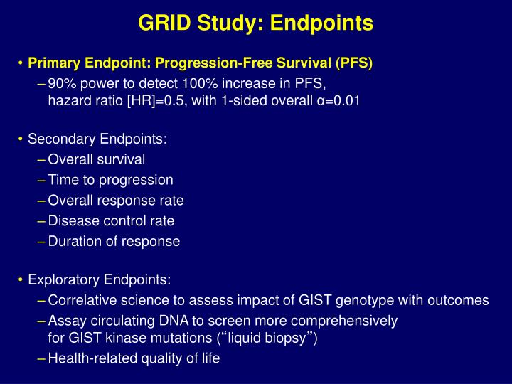 GRID Study: Endpoints