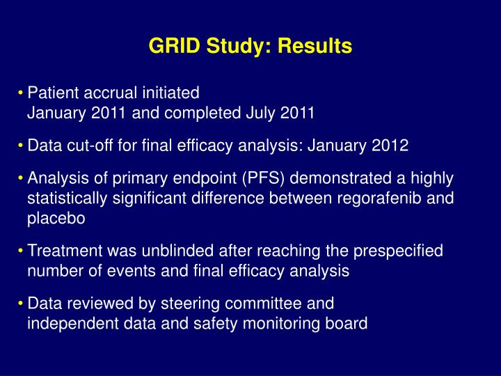 GRID Study: Results
