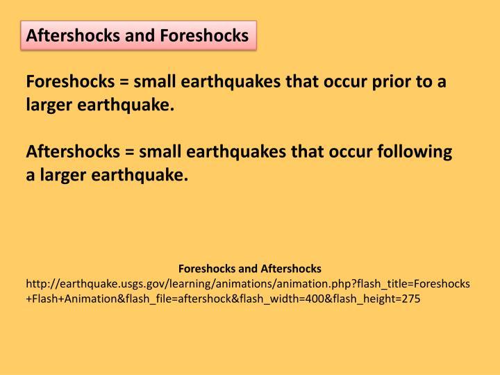 Aftershocks and Foreshocks