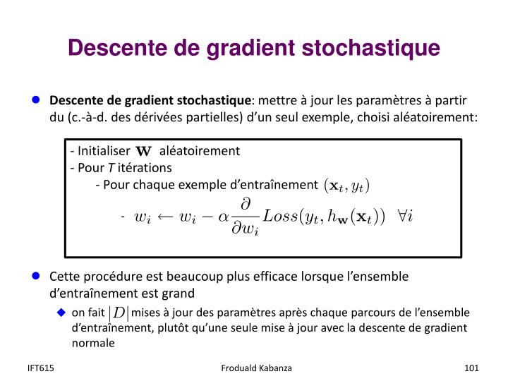 Descente de gradient stochastique