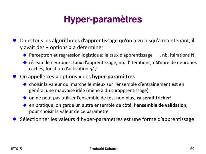 Hyper-paramètres