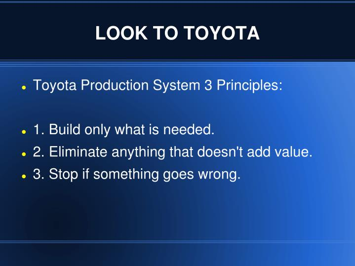 toyotas production methods do they commensurate with The toyota production system: keeping quality and killing waste by david zatz, phd updated 5/10/18 toyota is known for its reliable cars among the general public, but it has also been known in management circles for its unusually productive use of people rather than considering people to be.