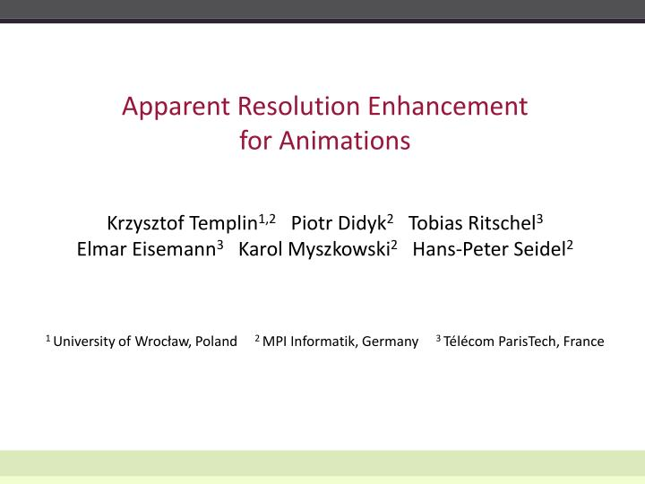 apparent resolution enhancement for animations n.