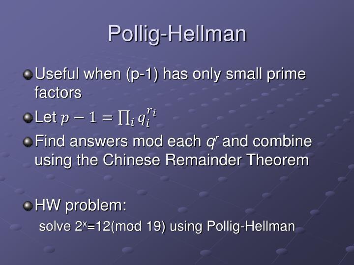 Pollig-Hellman