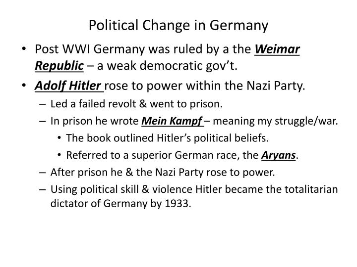 Political Change in Germany