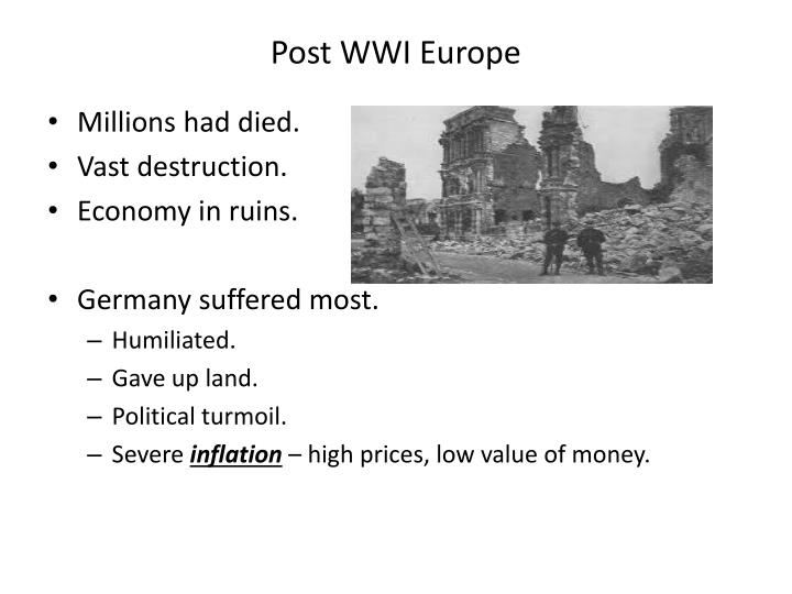 Post WWI Europe