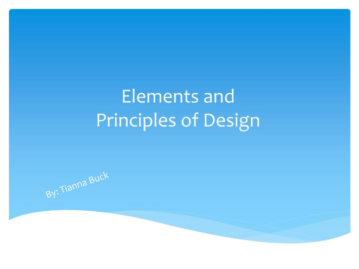 elements and principles of design n.