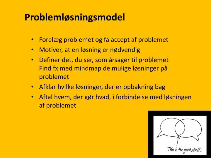 Problemløsningsmodel