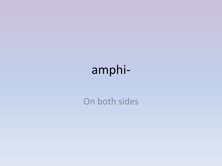 amphi-