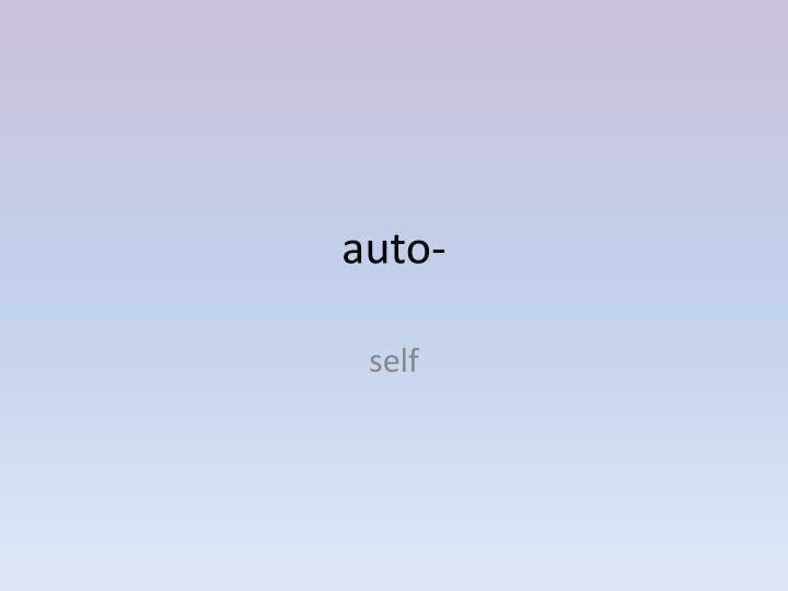 auto-