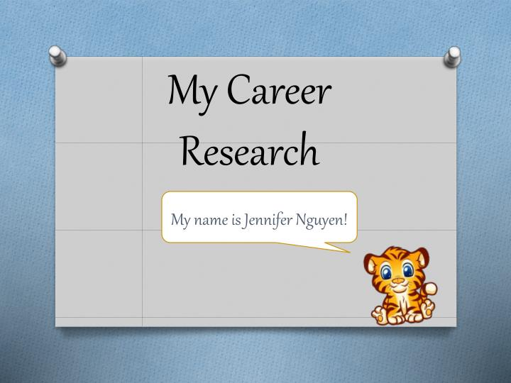 my career research n.