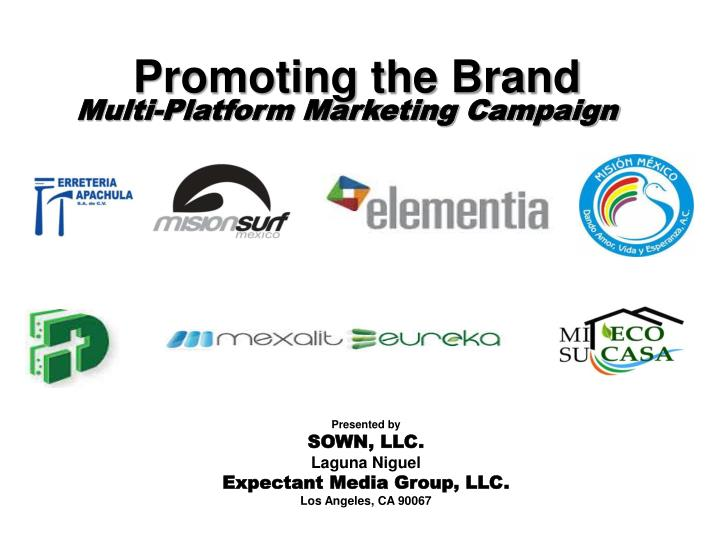 promoting the brand n.