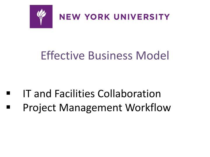 Effective Business Model