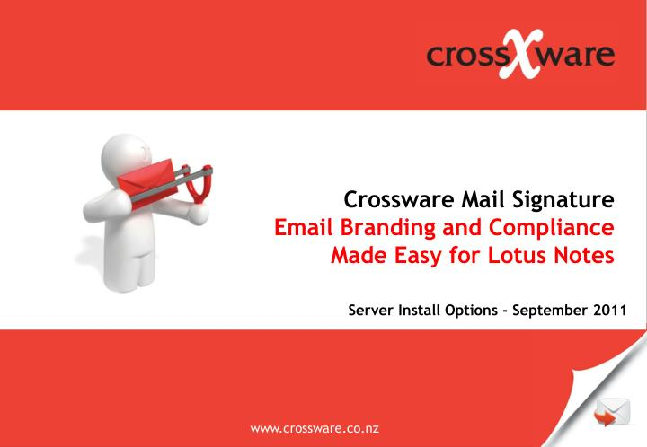 crossware mail signature email branding and compliance made easy for lotus notes n.