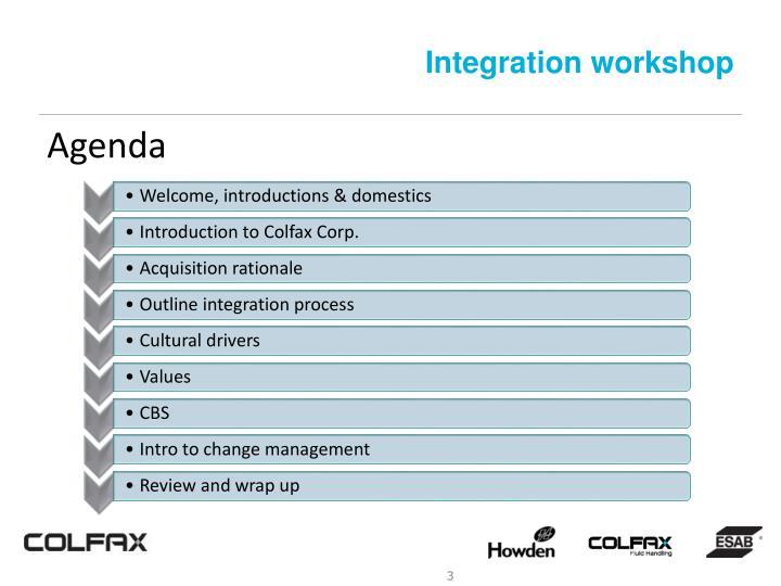 Integration workshop1