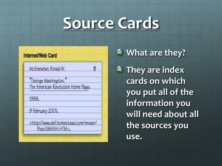 Source Cards