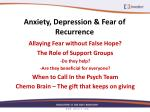 anxiety depression fear of recurrence