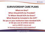 survivorship care plans