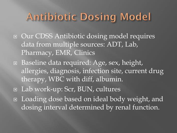 Antibiotic Dosing Model